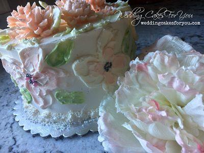 Buttercream textured flowers
