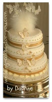 fondant butterfly wedding cake