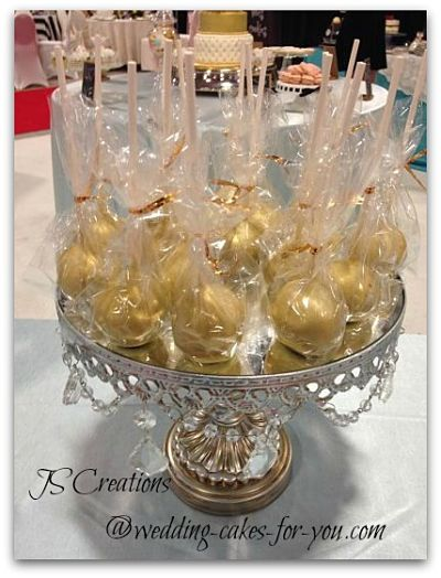Gold Cake Pops by JS Creations