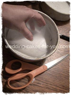 Preparing The Cake Pans