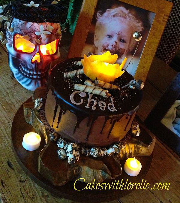 Terrific A Campfire Cake With Glowing Candy Flames And Lush Caramel Birthday Cards Printable Nowaargucafe Filternl