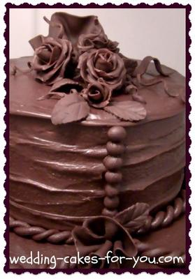 A Cake Filled, Frosted and Decorated in Decadent Chocolate Ganache