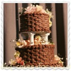 basketweaved chocolate wedding cake Clickable Link