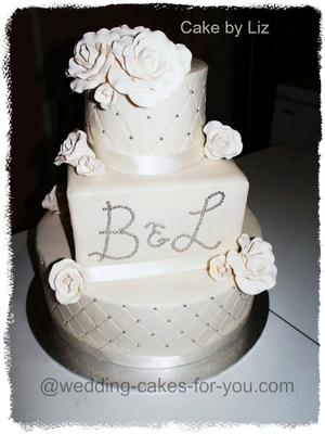 what size wedding cake choosing the correct size tiers so that they look balanced 27083