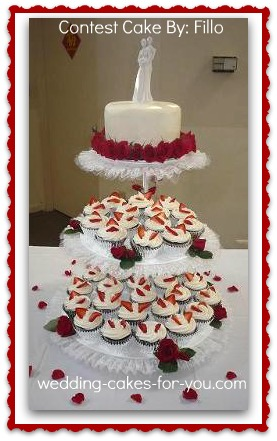 cupcake cake wedding cakes cupcake tiered wedding cake a sweet alternative 13141