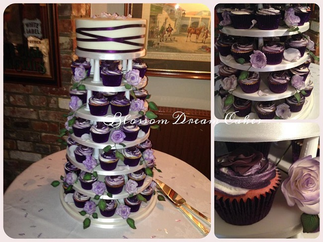 Cupcake Tiered Wedding Cake A Sweet Alternative