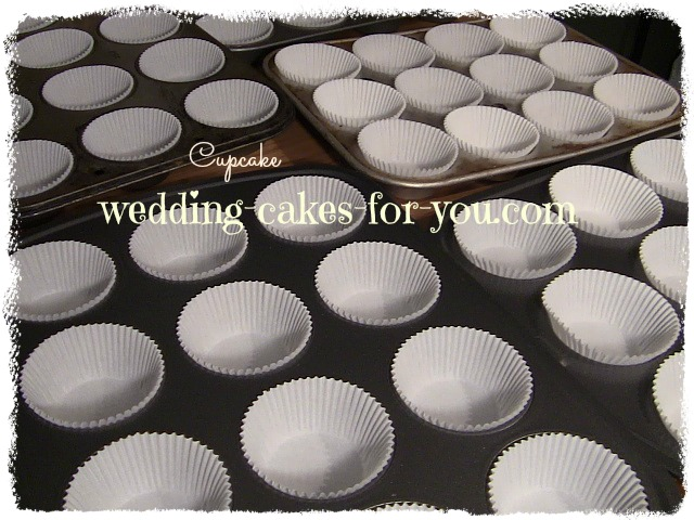 cupcake tins lined with paper holders