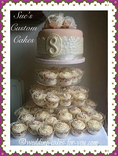 dream cakes wedding cake cupcake recipe cupcake tiered wedding cake a sweet alternative 13724