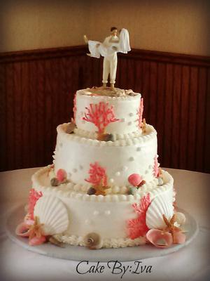 Sea Shell Wedding Cake By Iva