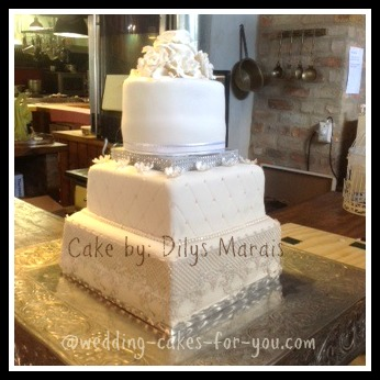 First Wedding cake by Dilys Marais
