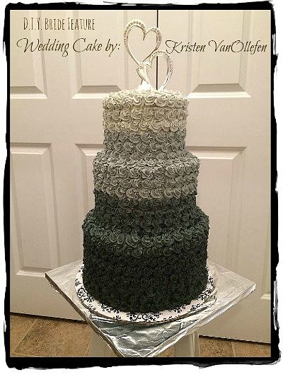 Elegant DIY Wedding Cake