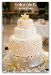 elegant wedding cake with handmade gumpaste roses