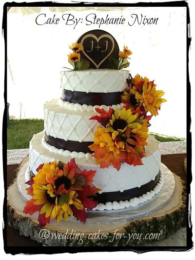 elegant fall wedding cakes imagine fall wedding cakes with bright and colorful autumn 13960