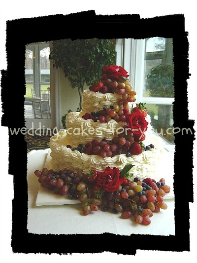basketweave wedding cake