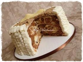 carrot cake combined with cheesecake