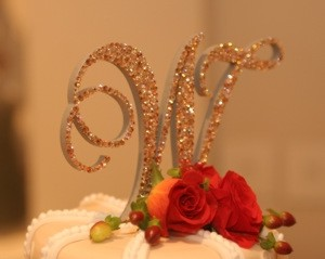 Monogram Topper From Topper's With Glitz