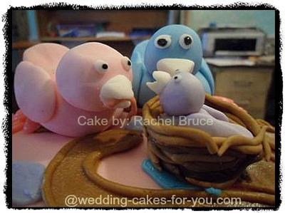 My little fondant bird family