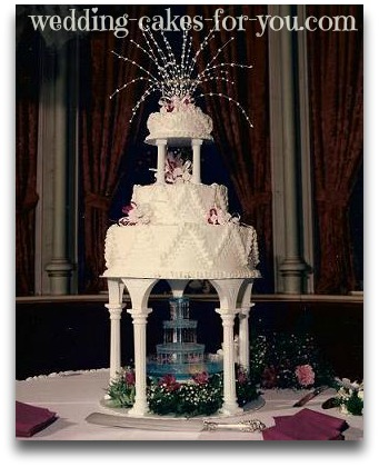fountain wedding cake by Lorelie