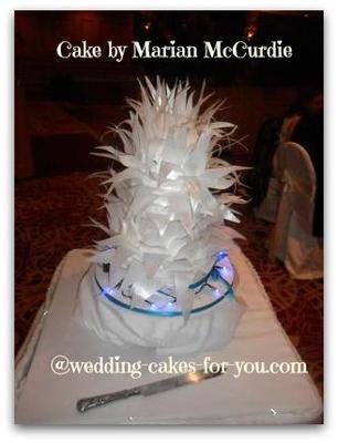 Funky and Fun Winter Wedding Cake