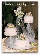 cascading wedding cake
