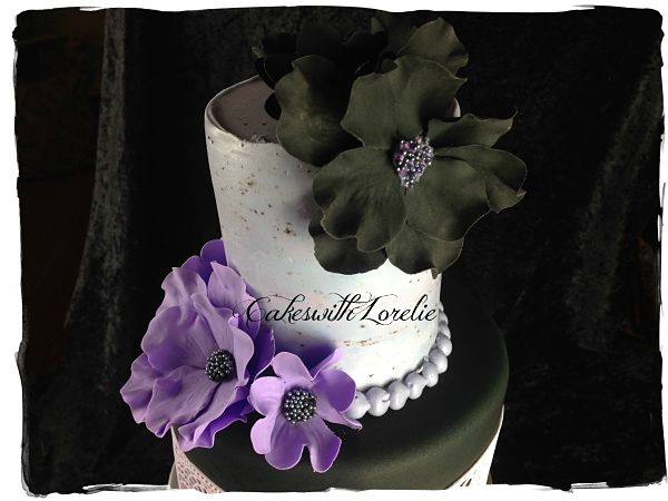 Purple and Black Gumpaste Flowers