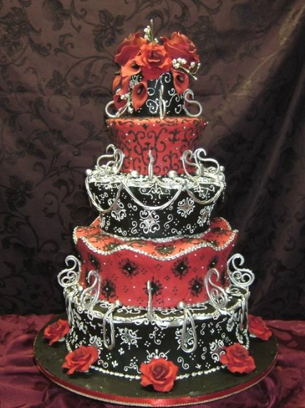 red and black wedding cake images wedding cakes and gothlicious ideas 19067
