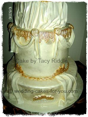 grecian wedding cake