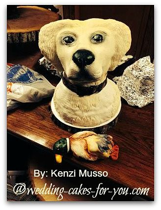 Dog Grooms Cake by Kenzi Musso