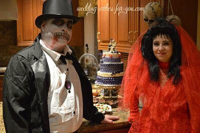 Skeleton Groom Red Bride