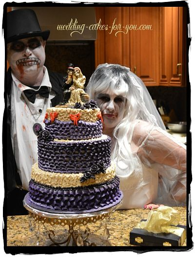 skeleton bride and groom - Halloween Wedding Cakes Pictures