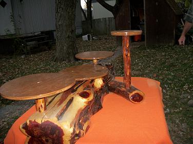 Handmade Wooden Cake Stand