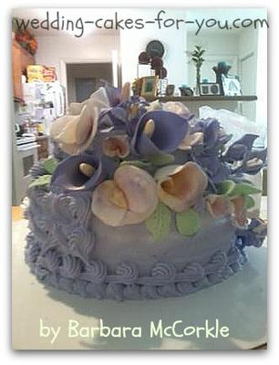 cake with gumpaste flowers