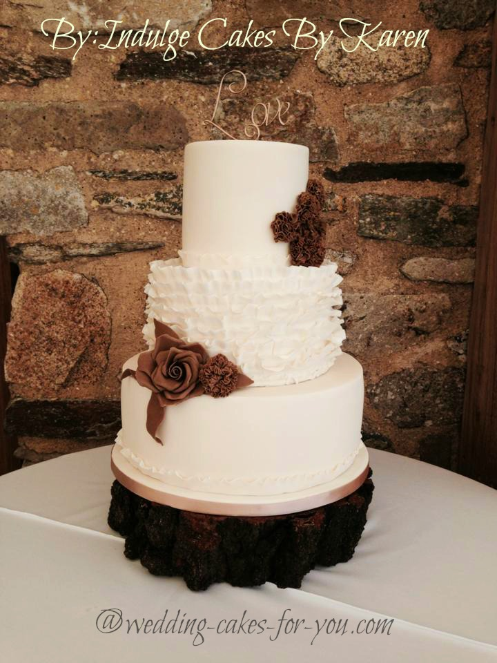 A Rustic Wedding Cake by Indulge Cakes by Karen