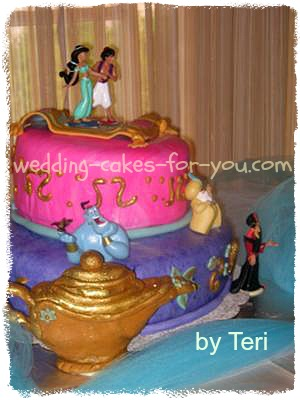 Miraculous Jasmine Aladdin Birthday Cake Personalised Birthday Cards Petedlily Jamesorg