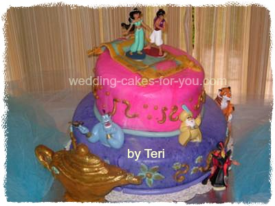Excellent Jasmine Aladdin Birthday Cake Personalised Birthday Cards Petedlily Jamesorg