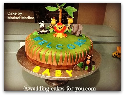 safari cake for a baby shower