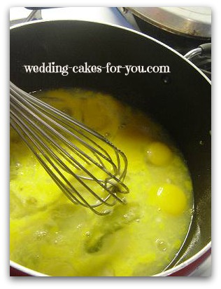 stirring lemon curd