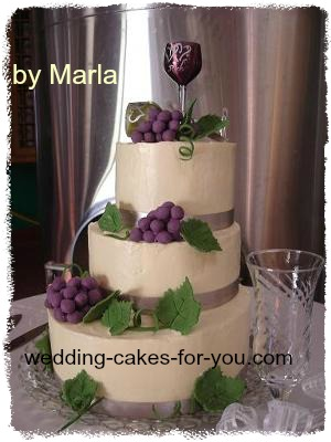 My Wine Themed Wedding Cake