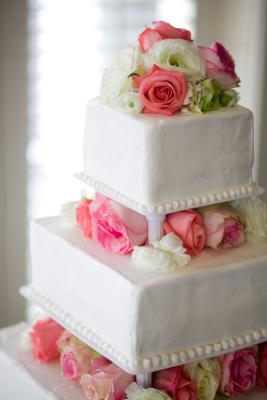 Buttercream squared edges - I stock photo