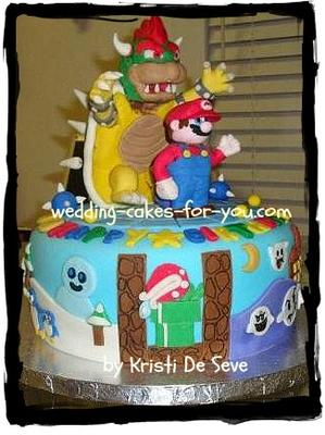 mario brothers wedding cake mario brothers cake 17144