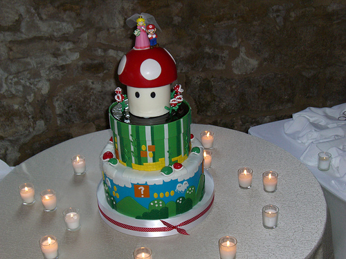 Mario Bros. wedding cake