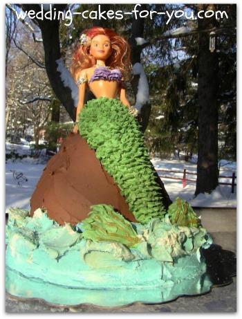mermaid Doll Princess cake