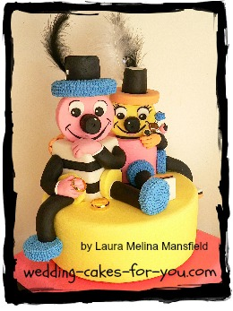 Mr and Mrs Allsorts wedding cake