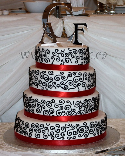 Black and White wedding cake by One Tier at a Time