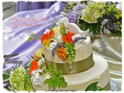 The Finished Organic Wedding Cake