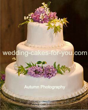Putting Fresh Flowers On Wedding Cake