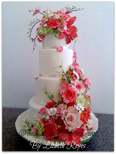 A pink wedding cake to go with a pink champagne cake recipe mightylinksfo