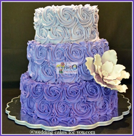 blue and purple cupcake wedding cakes aloha cakes and cupcakes by 11953