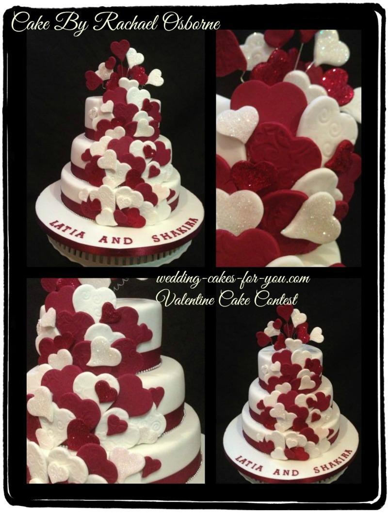 The Quintessential  Valentine wedding cake by Rachel Osborne