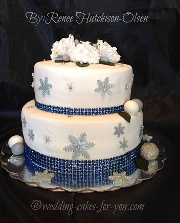 Winter wedding cake by Renee Hutchinson